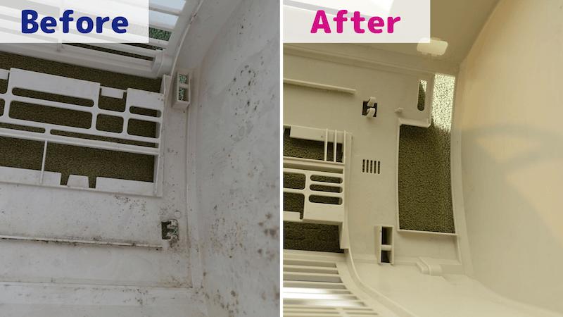 カジタク/エアコンカバーの掃除Before/After