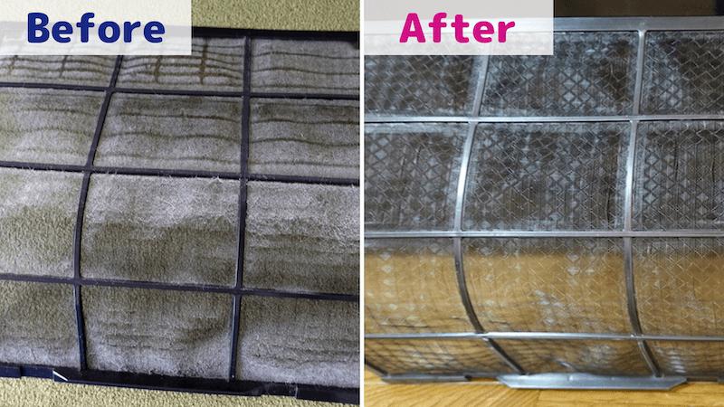 カジタク/エアフィルターの掃除Before/After