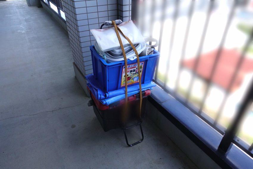 おそうじ革命のスタッフさんが持ってきた荷物